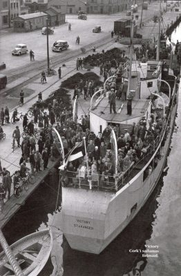 Refugee ship Victory at the port of Cork, Ireland. Photo from the book Unustatud merereisid