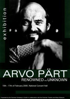 Arvo Pärt's exhibition poster