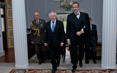 President Toomas Hendrik Ilves meeting with President of Ireland Michael Higgins. Photo: President's Office, Tony Maxwell
