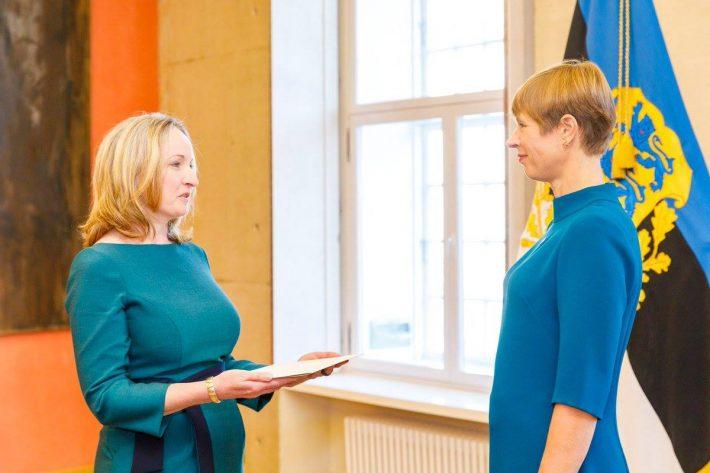 Ambassador Frances Kiernan presenting her credentials. Photo: Irish Embassy in Tallinn