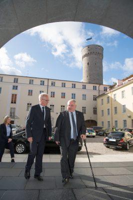 President of the Riigikogu Eiki Nestor and Speaker of the Dáil Seán Ó Fearghaíl. Photo: Riigikogu, Erik Peinar