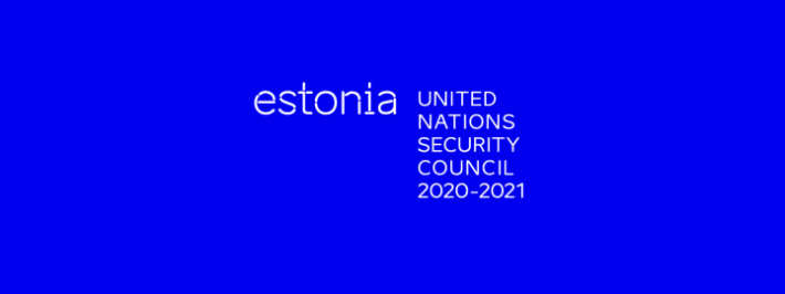 Logo of Estonia as an elected member at the UNSC